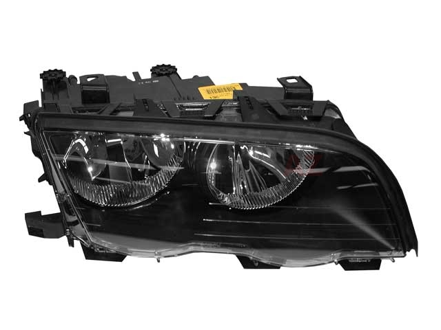 63126902754 Automotive Lighting Headlight; Right Halogen Assembly; Black Trim