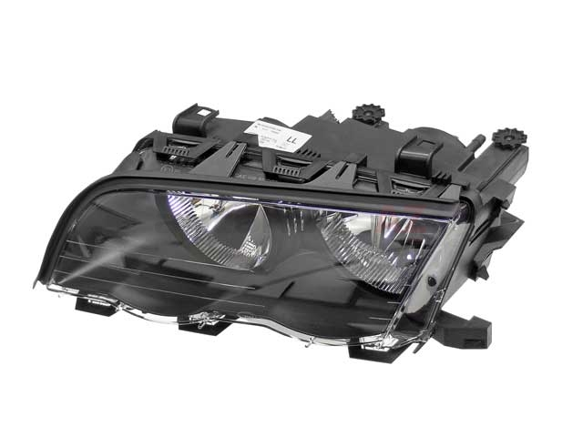 63126906495 ZKW Headlight; Left Halogen Assembly; Black Trim