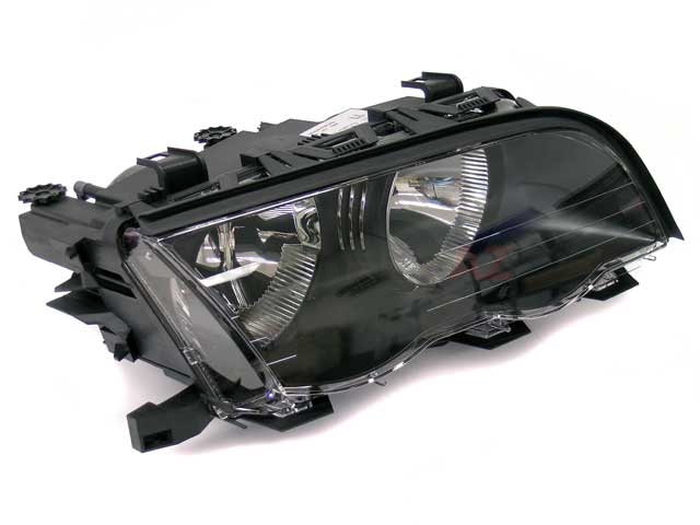 63126906496 ZKW Headlight; Right Halogen Assembly; Black Trim