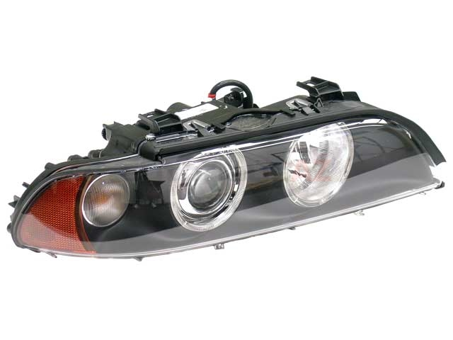 63126912440 Hella Headlight; Right Xenon-HID Assembly with White Turn Signal