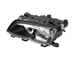 63127165771 ZKW Headlight; Left Halogen Assembly; Black Trim