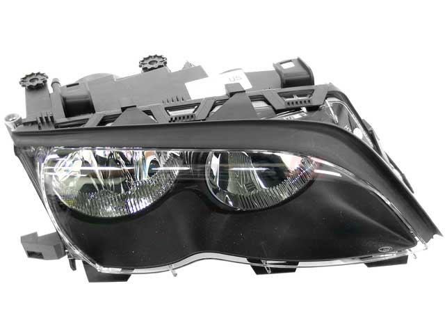 63127165772 ZKW Headlight; Right Halogen Assembly; Black Trim