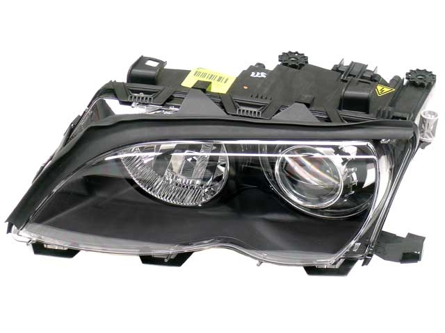 63127165779 Automotive Lighting Headlight; Left Bi-Xenon Assembly; Black Trim