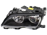 63127165833 ZKW Headlight; Left Bi-Xenon Assembly; Black Trim