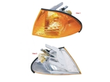63136902765E URO Parts Turn Signal Light Assembly; Front Left Amber Lens Assembly