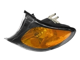 63137165859 TYC (CAPA Certified) Turn Signal Light; Front Left; Yellow Lens with Black Trim