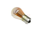 63217160897 Flosser Turn Signal Light Bulb; Silver/Chrome; 12V-21W Single Filament