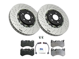 63AMGFTKIT O.E.M. Disc Brake Pad and Rotor Kit; Front Brake Kit