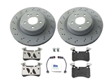 63AMGRRKIT O.E.M. Disc Brake Pad and Rotor Kit; Rear Brake Kit