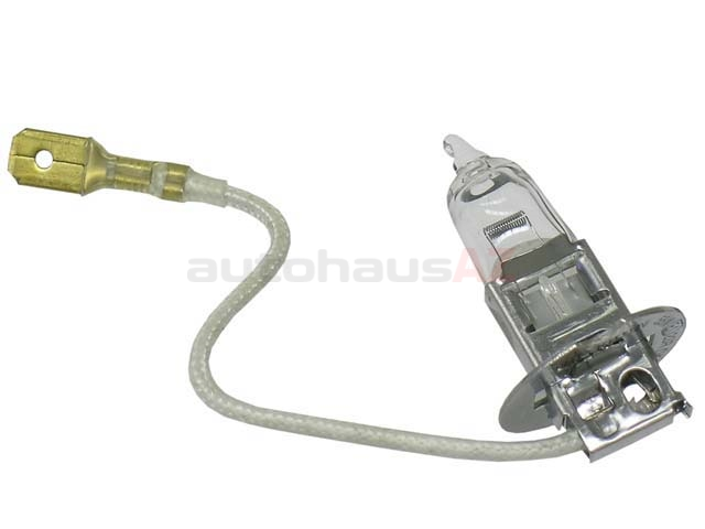64151 Hella Fog Light Bulb; H3 Halogen; 12V/55W with Wire