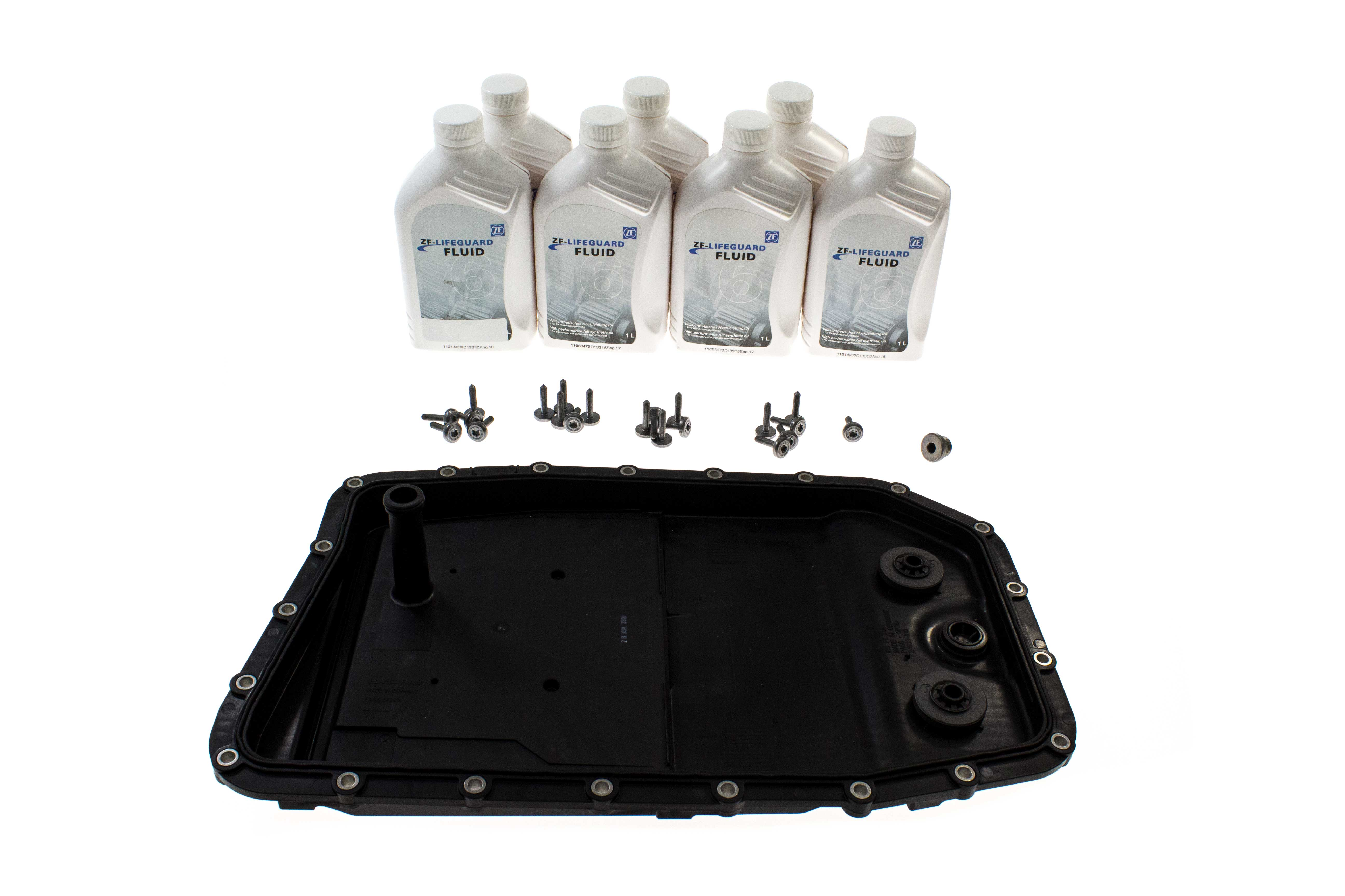 6HP26ZFLTRKIT AAZ Preferred Auto Trans Oil Pan and Filter Kit; A/T Pan with Filter, Pan Bolts, Fill Plug, ATF; KIT