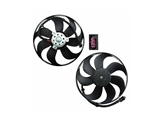 6X0959455A Mahle Behr Engine Cooling Fan Assembly; Left; Complete Fan Assembly (Motor with Blades); 345mm 250/60W