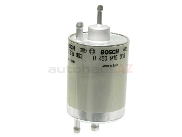 71058 Bosch Fuel Filter; With 4 Push-On Fittings; 75mm Diameter