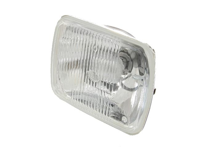 72207 Hella Headlight Assembly; H4 Conversion with Bulb; High/Low Rectangular