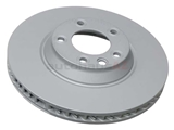 7L6615302K Zimmermann Coat Z Disc Brake Rotor; Front Right; Directional; Vented 350x34mm