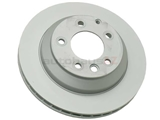 7L6615601J Zimmermann Coat Z Disc Brake Rotor; Rear; Vented 330x28mm