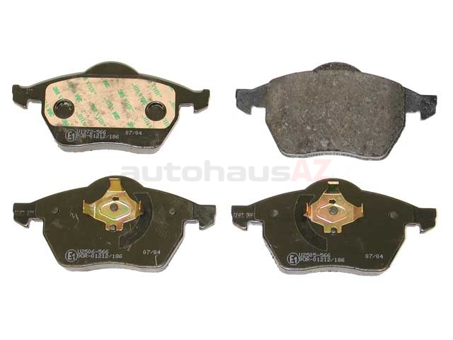 8D0698151A Pagid Brake Pad Set; Front without Sensor; OE Compound