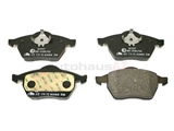 8D0698151C ATE Brake Pad Set; Front without Sensor; OE Compound