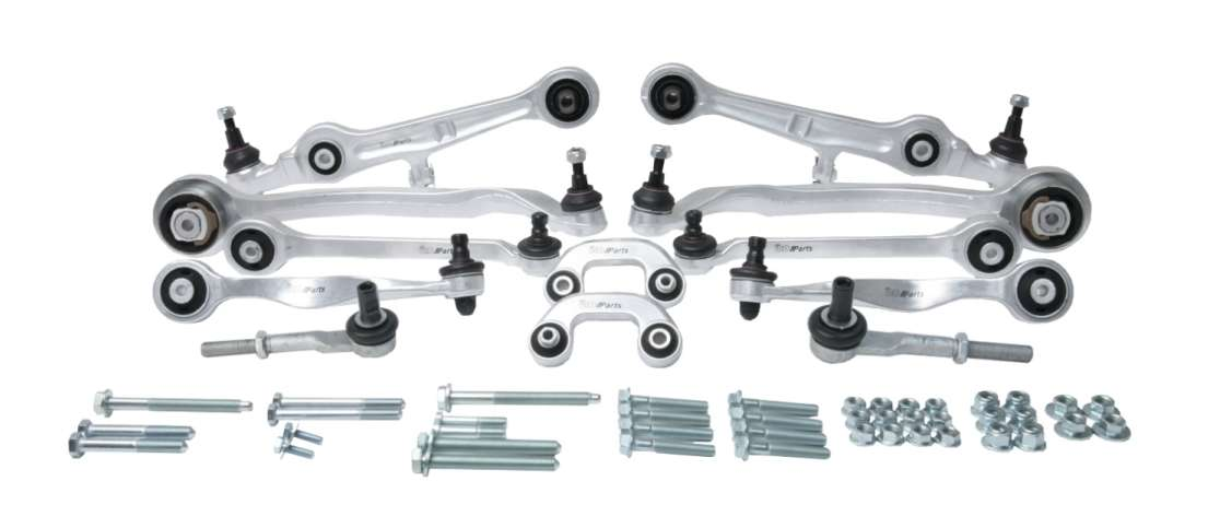 8E0498510A URO Parts Suspension Control Arm Kit; 12 Piece Kit plus Hardware