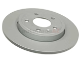 8E0615601M Zimmermann Coat Z Disc Brake Rotor; Rear; Solid 288x12mm