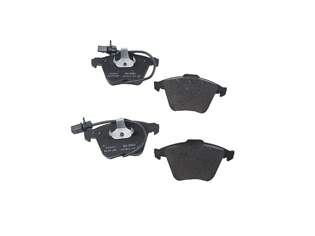 8E0698151G Pagid Brake Pad Set; Front with Pad Wear Sensors; OE Compound