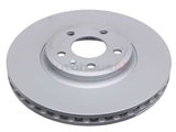 8K0615301A Zimmermann Coat Z Disc Brake Rotor; Front; Vented; 320 x 30mm