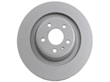 8K0615601C Zimmermann Coat Z Disc Brake Rotor; Rear; Vented 330x22mm