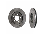 8N0615601BSP Zimmermann Sport Disc Brake Rotor; Rear; Vented 256x22mm; Cross-Drilled