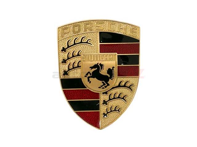 Genuine Porsche 90155921020 Emblem; Porsche Crest Hood Badge , Porsche