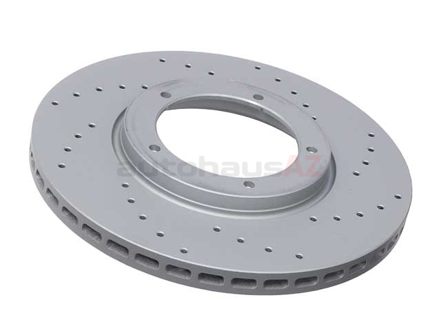 91135104120SP Zimmermann Sport Z X-Drilled Disc Brake Rotor; Front; Vented; Cross-Drilled