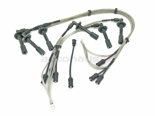 91160901105 Beru Spark Plug Wire Set; With Stainless Steel Braided Covering