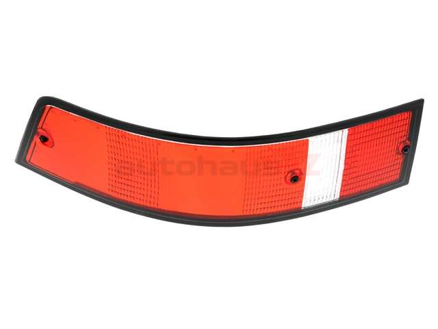 91163195100 O.E.M. Tail Light; Left Lens Assembly; Red with Black Trim