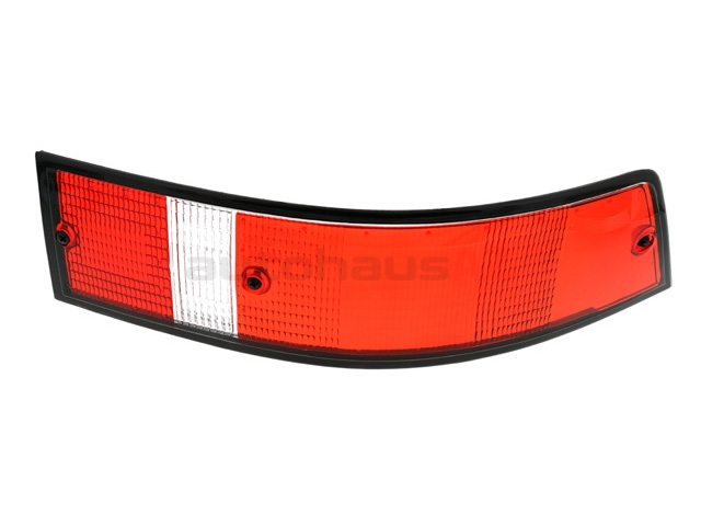 91163195200 O.E.M. Tail Light; Right Lens Assembly; Red with Black Trim