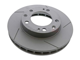 92835104401 Zimmermann Coat Z Disc Brake Rotor; Front Right; Directional; Vented