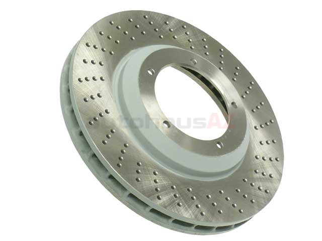 93035104802 Sebro Coated Disc Brake Rotor; Front Right; Directional; Vented 304x32mm; Cross-Drilled