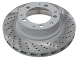 93035204601 Sebro Coated Disc Brake Rotor; Rear Right; Directional; Vented; Cross-Drilled