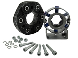 95542102015SUP European Parts Solution Drive Shaft Center Support; Support Assembly Kit with Flex Disc