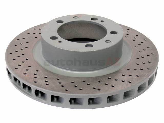 96535104400 Sebro Coated Disc Brake Rotor; Right Front; Directional; Vented, Cross-Drilled