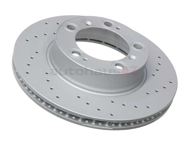 98635140105SP Zimmermann Sport Z X-Drilled Disc Brake Rotor; Front; Vented; Cross-Drilled