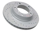 98635240104SP Zimmermann Sport Z X-Drilled Disc Brake Rotor; Rear; Vented; Cross-Drilled