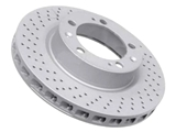 99335104301 Zimmermann Coat Z Disc Brake Rotor; Front Left; Directional; Vented 302x31mm; Cross-Drilled