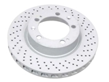 99335104401 Zimmermann Coat Z Disc Brake Rotor; Front Right; Directional; Vented 302x31mm; Cross-Drilled