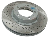 99335104610 O.E.M. Disc Brake Rotor; Front Right; Directional; Vented; Cross-Drilled
