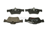 0064200120 ATE Ceramic Brake Pad Set; Rear