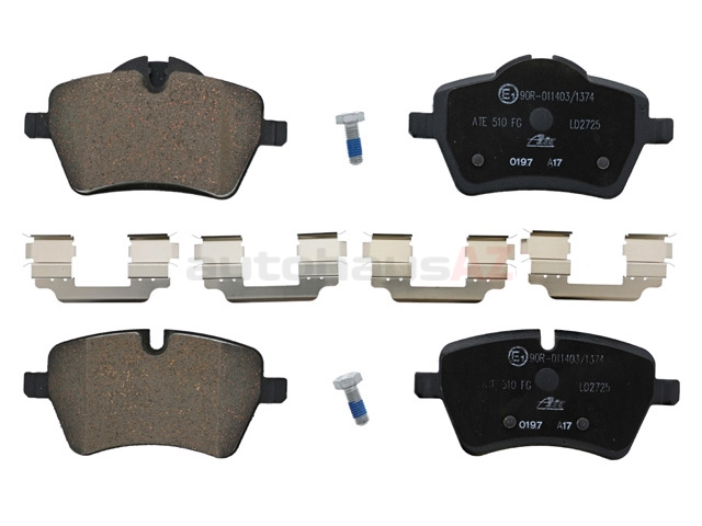 34116798469 ATE Ceramic Brake Pad Set; Front