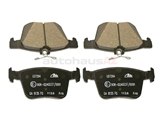 5Q0698451P ATE Ceramic Brake Pad Set; Rear