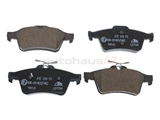 99900003 ATE Ceramic Brake Pad Set; Rear