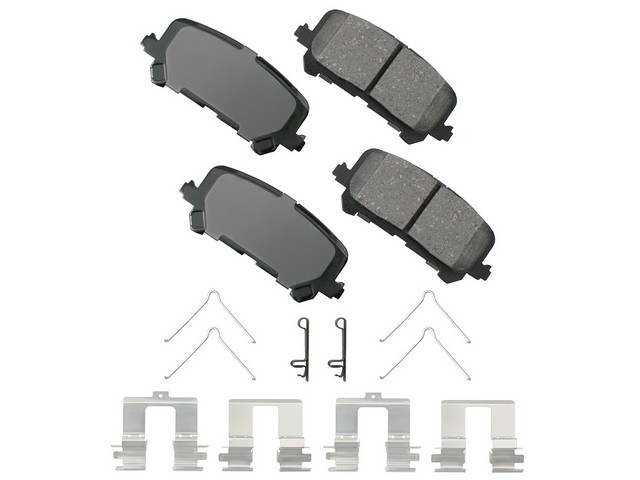 ACT1281 Akebono ProACT Brake Pad Set