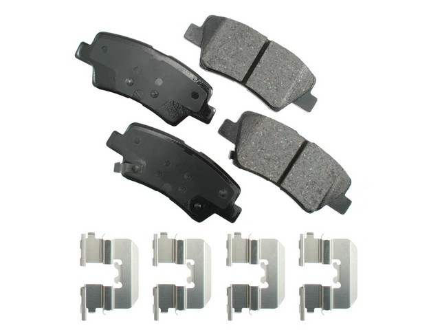 ACT1445 Akebono ProACT Brake Pad Set; Rear