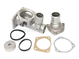AJ82217KIT URO Parts Premium Thermostat Housing; Hi-Performance Upgrade KIT with Housing, Thermostat Cover, and Seals